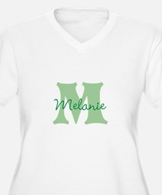 CUSTOM Green Monogram Plus Size T-Shirt