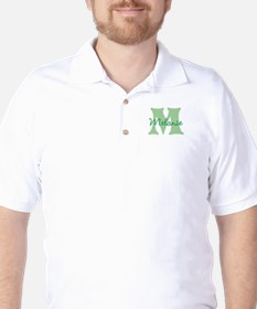 CUSTOM Green Monogram Golf Shirt