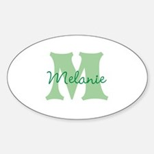 CUSTOM Green Monogram Decal
