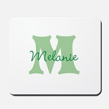 CUSTOM Green Monogram Mousepad