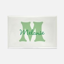 CUSTOM Green Monogram Magnets