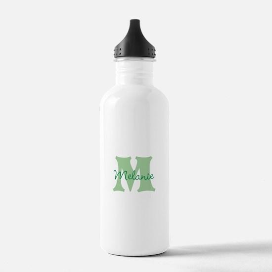 CUSTOM Green Monogram Water Bottle