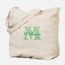 CUSTOM Green Monogram Tote Bag