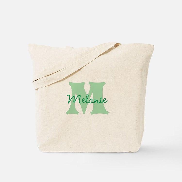 CUSTOM Green Monogram Tote Bag