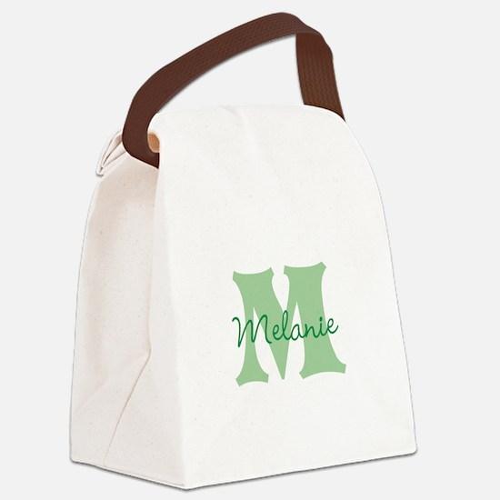 CUSTOM Green Monogram Canvas Lunch Bag