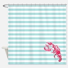Preppy Lobstah Shower Curtain
