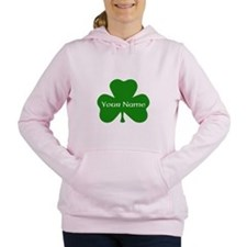 CUSTOM Shamrock with Your Name Women's Hooded Swea