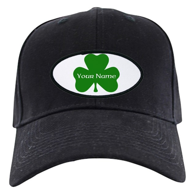 custom shamrock with your name baseball hat by mightyawesome