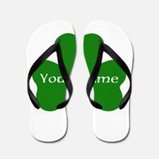 CUSTOM Shamrock with Your Name Flip Flops