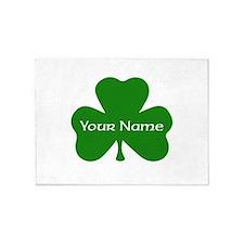 CUSTOM Shamrock with Your Name 5'x7'Area Rug