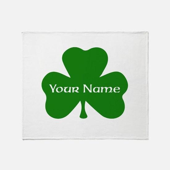 CUSTOM Shamrock with Your Name Throw Blanket