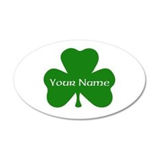 CUSTOM Shamrock with Your Name Wall Decal