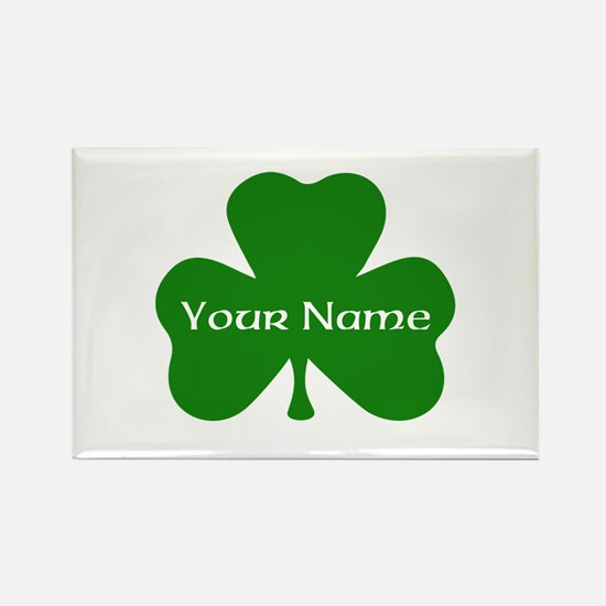 CUSTOM Shamrock with Your Name Magnets