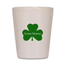 CUSTOM Shamrock with Your Name Shot Glass