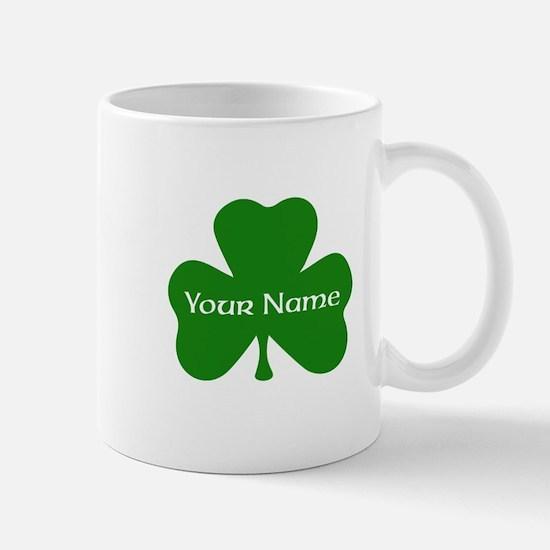 CUSTOM Shamrock with Your Name Mugs
