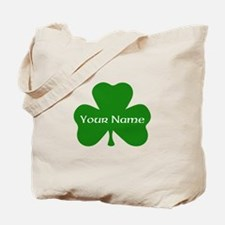 CUSTOM Shamrock with Your Name Tote Bag