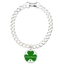 CUSTOM Shamrock with Your Name Bracelet