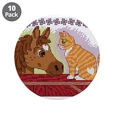 """Cute Cross stitch 3.5"""" Button (10 pack)"""