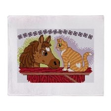Cute Cross stitch Throw Blanket