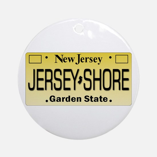 Jersey Shore Tag Giftware Ornament (Round)