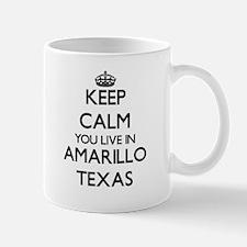 Keep calm you live in Amarillo Texas Mugs