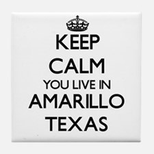 Keep calm you live in Amarillo Texas Tile Coaster