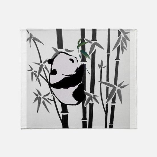 panda and bamboo Throw Blanket