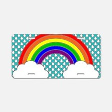 Rainbow Bumper Aluminum License Plate