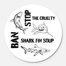 Stop The Cruelty Round Car Magnet