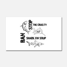 Stop The Cruelty Car Magnet 20 x 12