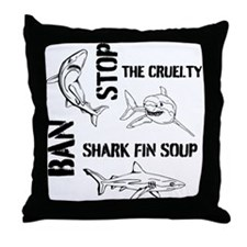 Stop The Cruelty Throw Pillow