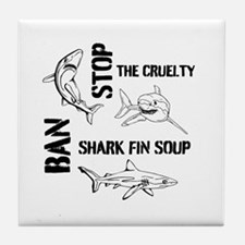 Stop The Cruelty Tile Coaster
