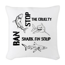Stop The Cruelty Woven Throw Pillow