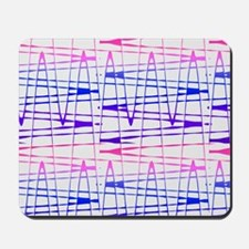 Abstract Serendipity Blue Pink for Barba Mousepad