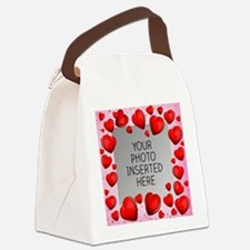 Give a Little Love Canvas Lunch Bag