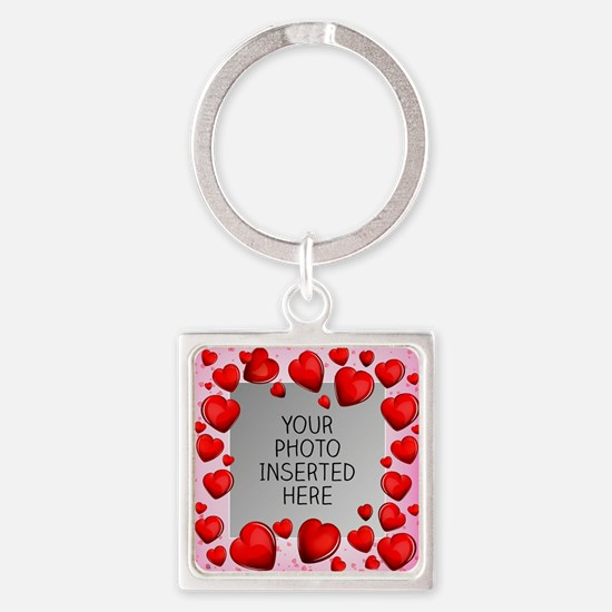 Give a Little Love Square Keychain