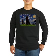 Starry Night Black Poodle T