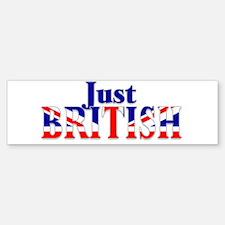 Just British Logo, Large Bumper Bumper Bumper Sticker