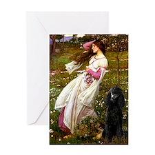 Windflowers Standard Poodle Greeting Card