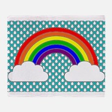 Rainbow Sky Throw Blanket