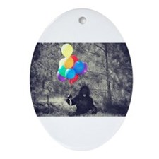ape balloons Ornament (Oval)
