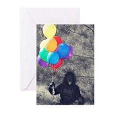 ape balloons Greeting Cards