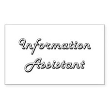 Information Assistant Classic Job Design Decal