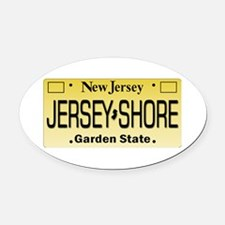 Jersey Shore Tag Giftware Oval Car Magnet