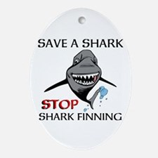 Stop Shark Finning Ornament (Oval)