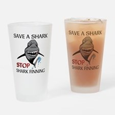Stop Shark Finning Drinking Glass