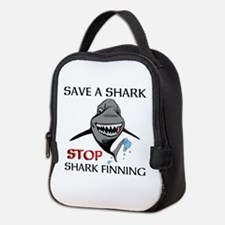 Stop Shark Finning Neoprene Lunch Bag