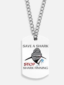 Stop Shark Finning Dog Tags