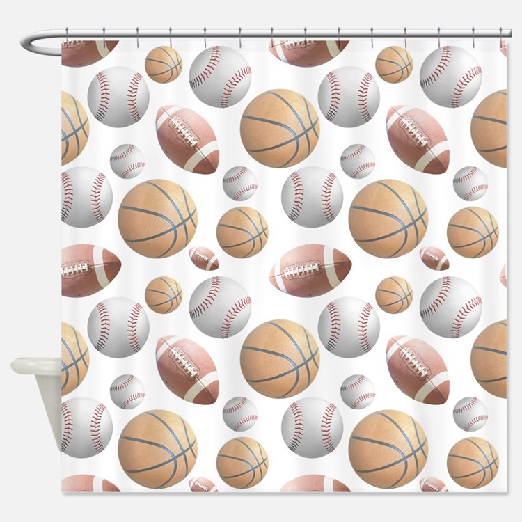 Court and Field Shower Curtain