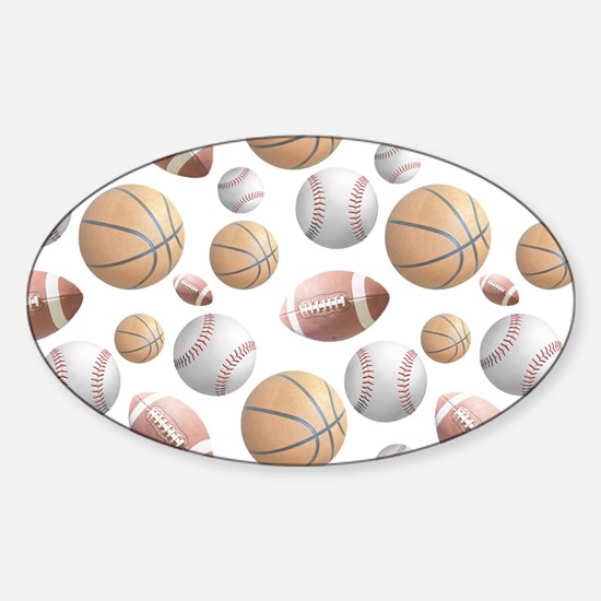 Court and Field Sticker (Oval)